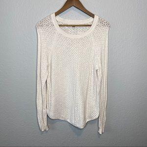 Lauren Conrad | White Holey Sweater